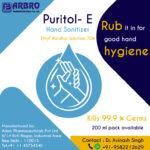 Puritol -E ethyl Alcohol-based Hand Sanitizer for Corona Virus Protection